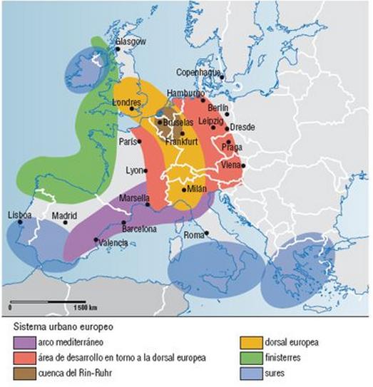 Font: http://images.slideplayer.es/ [en línia] [Consulta 16/02/2016] El espacio urbano europeo. Méndez y Molinero. Espacios y sociedades.