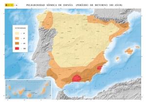 Mapa de risc sísmic Espanya. Font: https://www.ign.es/ [Consulta: 06/07/2016]