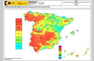 Mapa incendis Espanya 2013. Font: http://www.elconfidencial.com/ [Consulta: 06/07/2016]